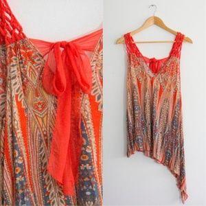 🏵🌛Free People Asymmetrical Crochet Top🌜🏵